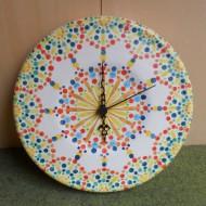 orologio ceramiche artistiche bentornato artigianato